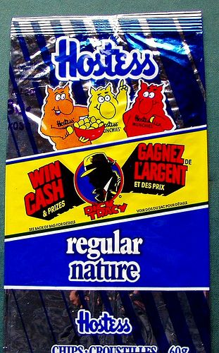 Hostess chips bag w/Dick Tracy 1990 ... I sooo remember these too..