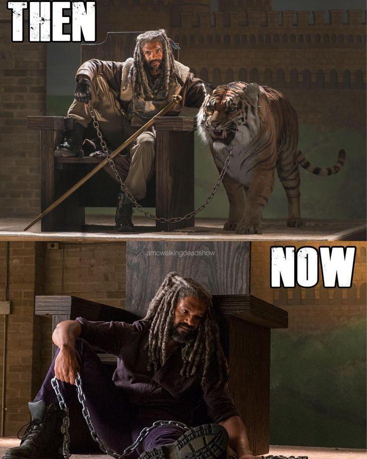 "The Walking Dead (@amcwalkingdeadshow) on Instagram: ""Ok this is still so emotional ♂️"" King Ezekiel"