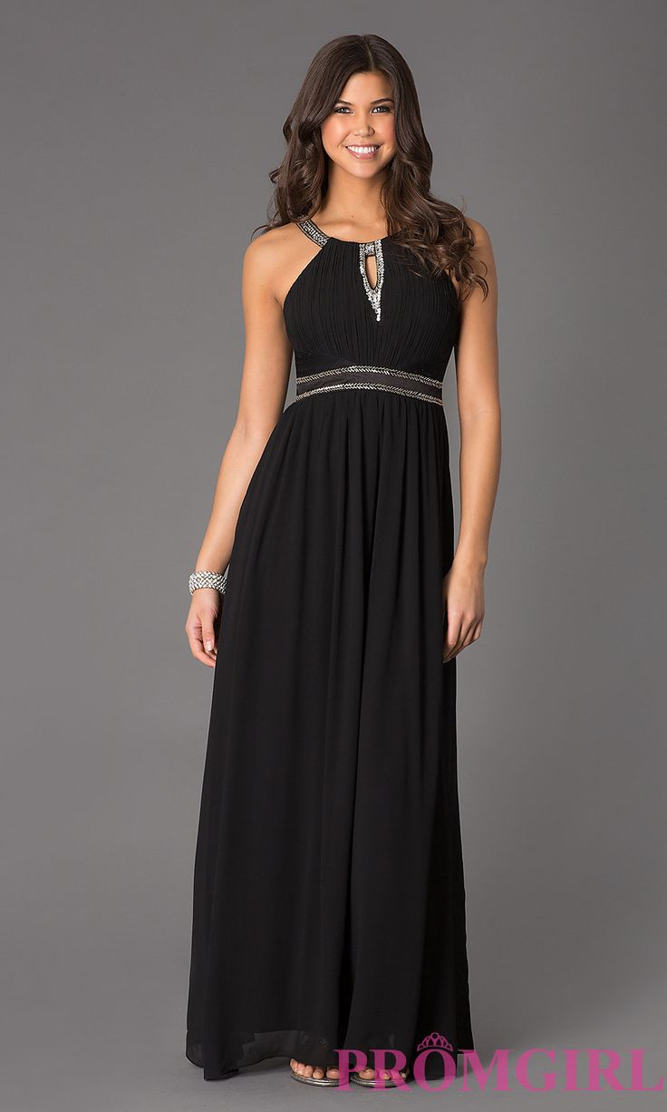 Image of Floor Length Sleeveless Scoop Neck Dress Style: LP-22350 Front Image