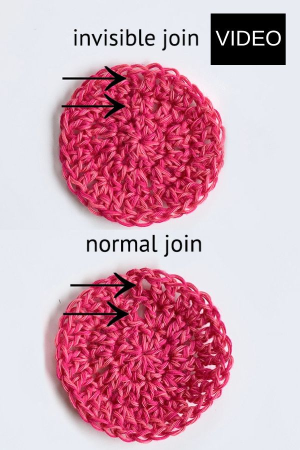 FREE video tutorial on YouTube to crochet an invisible join / seam