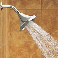 Low-flow shower heads save a ton of water!