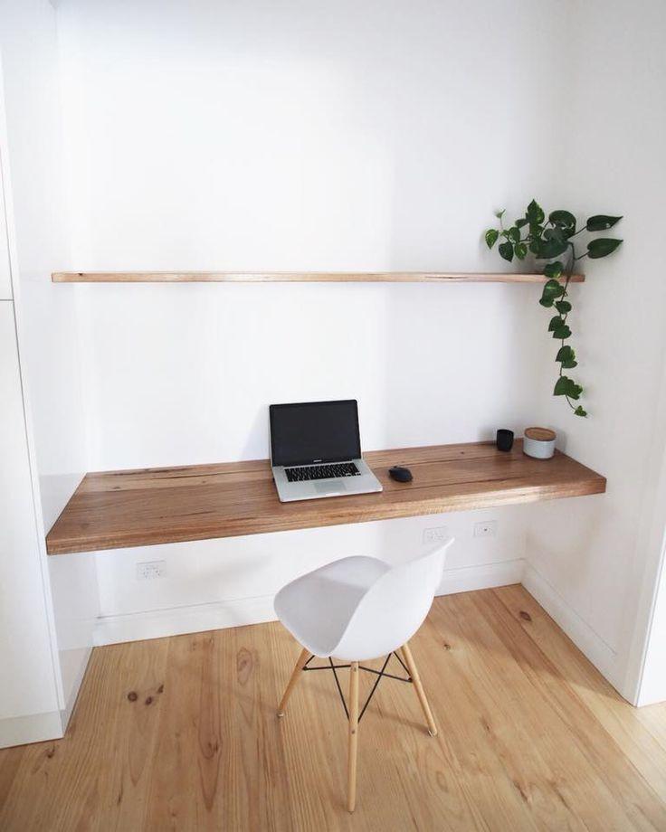 Darker wood, studio workspace, desk, simple, wood,…
