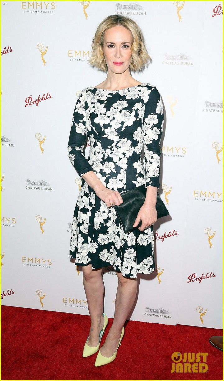 Sarah Paulson Gets Floral For TV Academy's Pre-Emmys Bash! | sarah paulson gets floral for tv academys pre emmys bash 11 - Photo