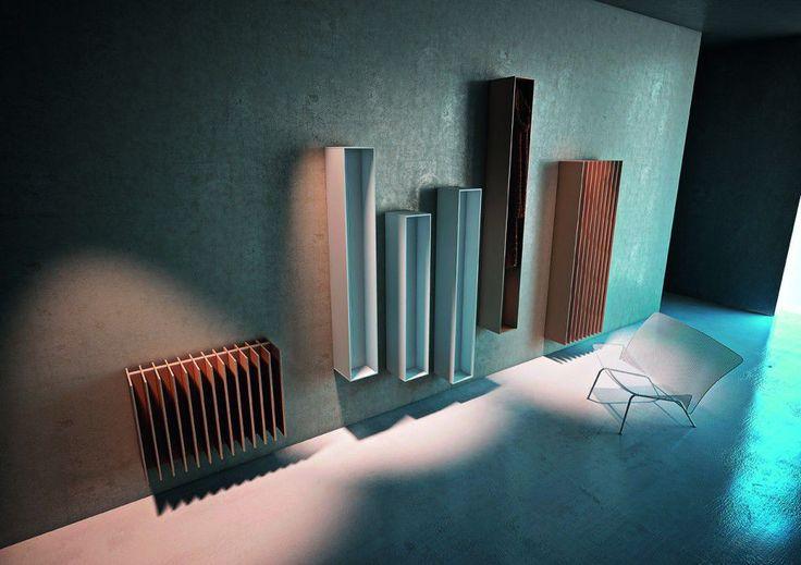 Heißwasser-Heizkörper / aus Metall / originelles Design / Wandmontage - BLADE by Peter Rankin - Antrax IT