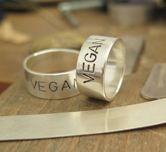 This listing is for a beautiful Sterling Silver 925 Ring Vegan made to order. Original and One of a Kind ring is absolutely handmade by me Voochee.