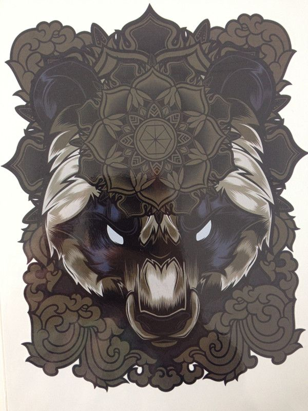 Ferocious Panda Hot Sale21 X 15 CM Temporary Tattoo Stickers Temporary Body Art  Waterproof#84 http://ali.pub/mou32