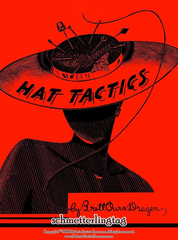 1950 Millinery Lessons Book HAT TACTICS Making Hats Pattern Millinery DIY Guide Korean War Era