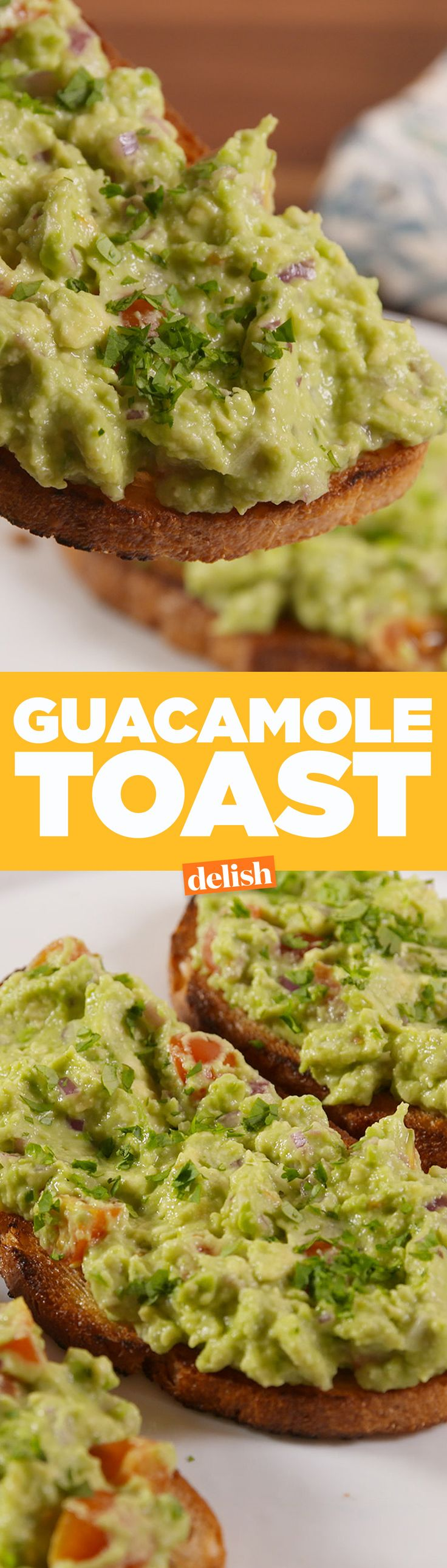Guacamole Toast is the upgrade your avocado toast needs. Get the recipe from Delish.com.