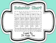 This is an editable and printable behavior chart set.