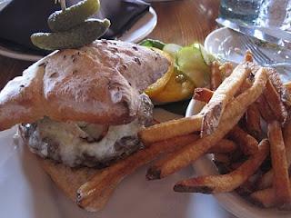 The Burger at High West Distillery in Park City, Utah