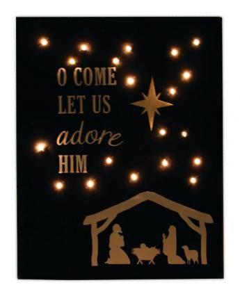 Crafts Direct :: Adore Him Light Up Canvas