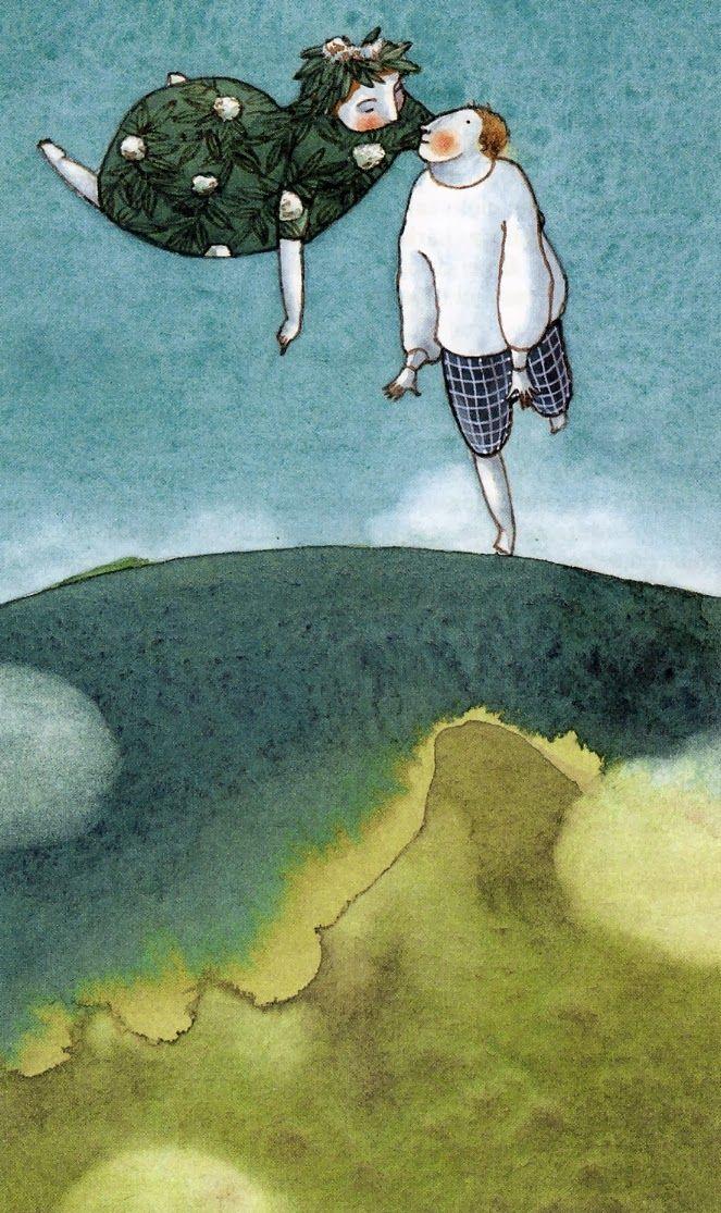 Ilustración de Elena Odriozola para La Sirenita y otros cuentos Ed. Anaya, 2004