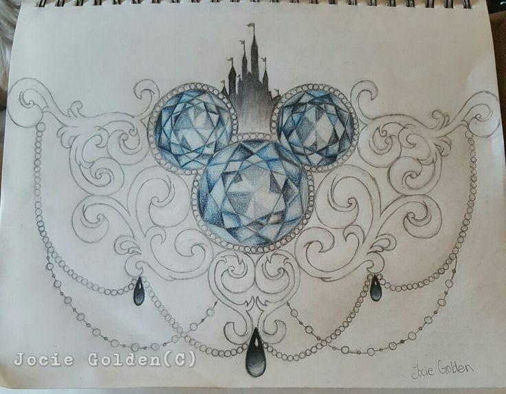 Disney Sternum Tattoo-Design, das ich gezeichnet habe. Ich werde es eines Tages bekommen.
