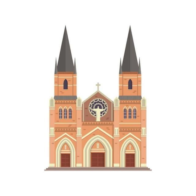 Modern Flat Church Building Illustration Church Clipart Flat Church Png And Vector With Transparent Background For Free Download Building Illustration Church Building Modern Flat
