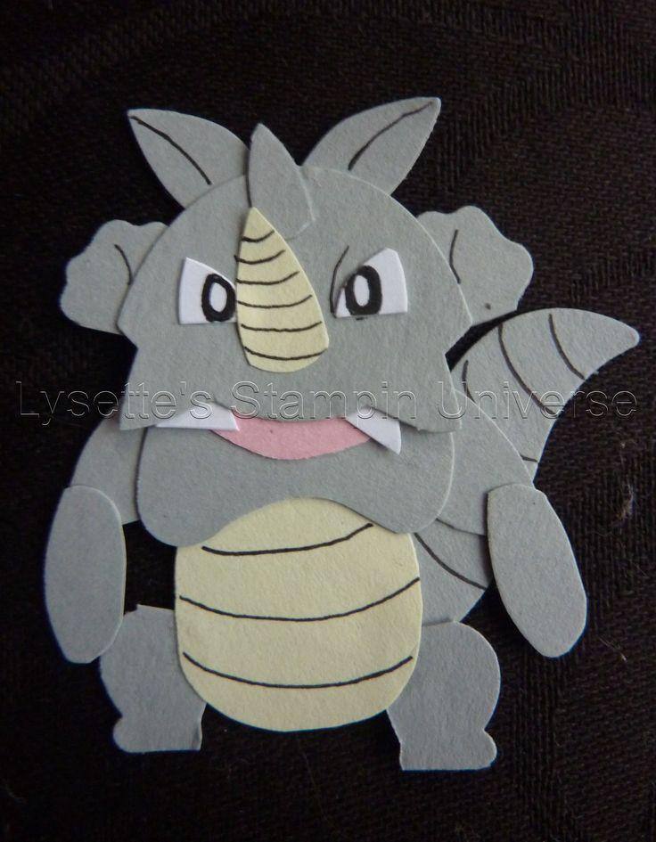 Gotta Craft Them All challenge dag 114: #Rhydon #Pokemon https://www.facebook.com/Lysettes.stampin.universe