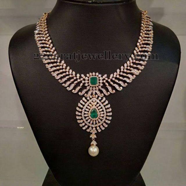 Jewellery Designs: Closed Setting Diamond Choker 9 lakhs