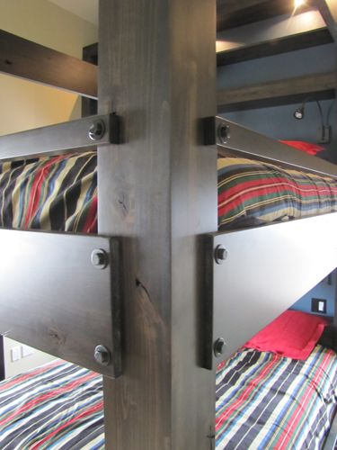 Gut Queen Bunk Bed Detail. Solid Knotty Alder Construction Haak Designs.  Www.haakdesigns