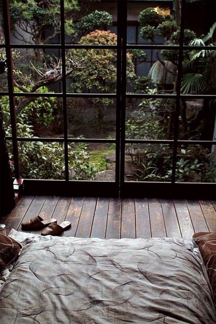 décoration japonais dans la chambre à coucher