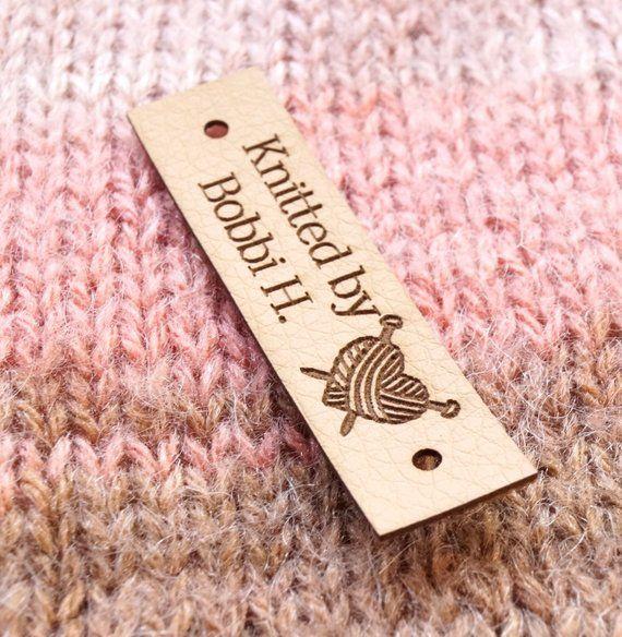 vegan labels vegan leather labels garment labels set of 25 pc Vegan leather labels logo branding tags custom knitting tags