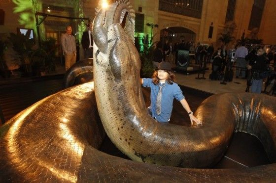 """Titanoboa (replica) -- however, Titanoboa is a """"monster snake"""" - an 1.5-ton, 48' long snake fossil was found in coal mine (see SMITHSONIAN tv channel)"""