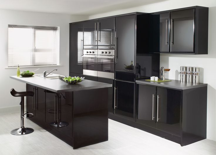#Black #Monza #Kitchen from John Nicholls #HomeDecor