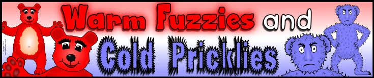 Warm Fuzzies and Cold Pricklies display banners