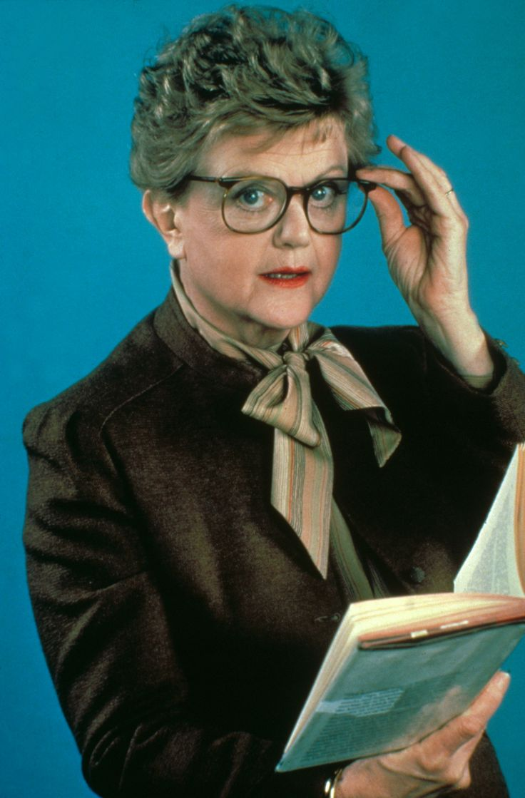 Angela Lansbury. Here as Jessica Fletcher on Muder, She Wrote.
