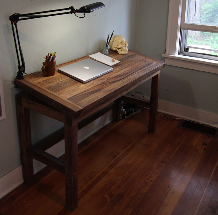 Portland-Made Custom Reclaimed Fishtail Oak Adjustable Drafting Table by TinyShed on Etsy https://www.etsy.com/listing/198254404/portland-made-custom-reclaimed-fishtail