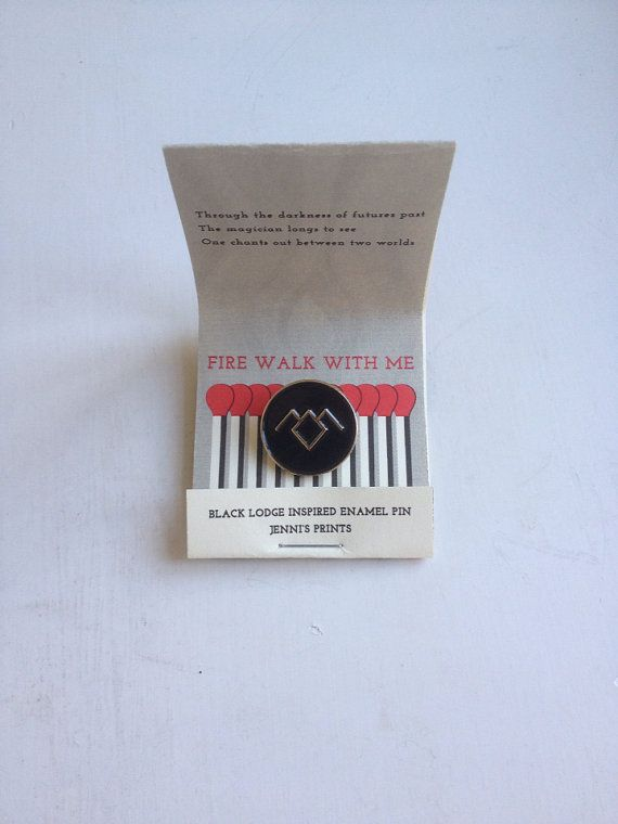 Twin Peaks inspired Black Lodge replica fan pin David Lynch Cooper Audrey Laura Palmer Damn Fine Coffee Owl 90s tv-show