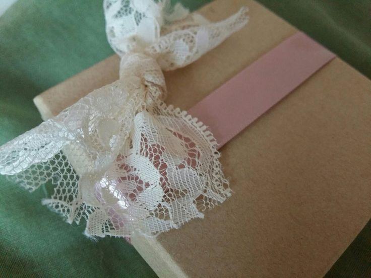 Μπομπονιέρα κουτάκι ροζ  vintage