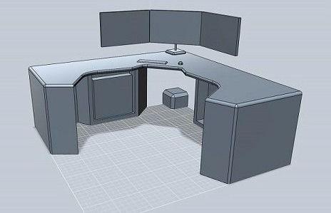 Corner Desk, Multi-Monitor - Best Computer Desks for Gaming