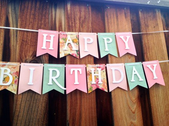 17 Best ideas about Happy Birthday Banners on Pinterest | Happy ...