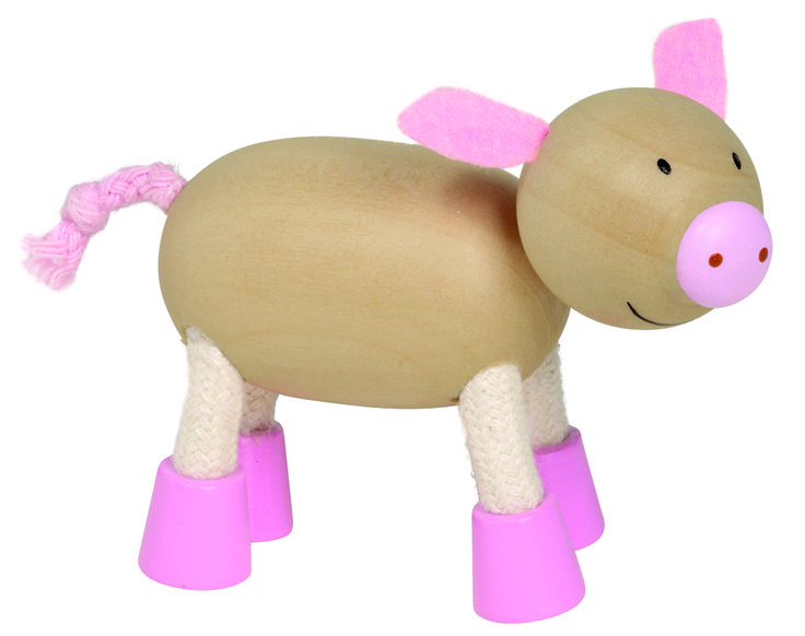 Natural and high quality toys to the development of the skills of children. Sophia is my pink friend. She is a pig ;-)