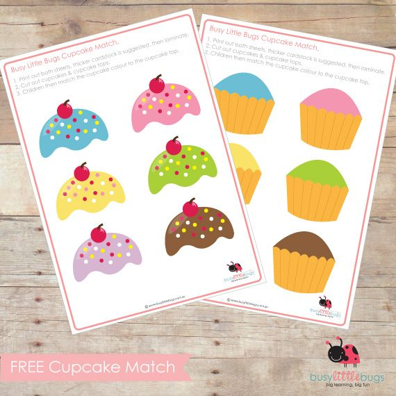 free cupcake matchjpg 570570 make into upper and lowercase - Colour Games For Children