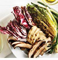 Grilled Radicchio and Romaine Chicken Salad