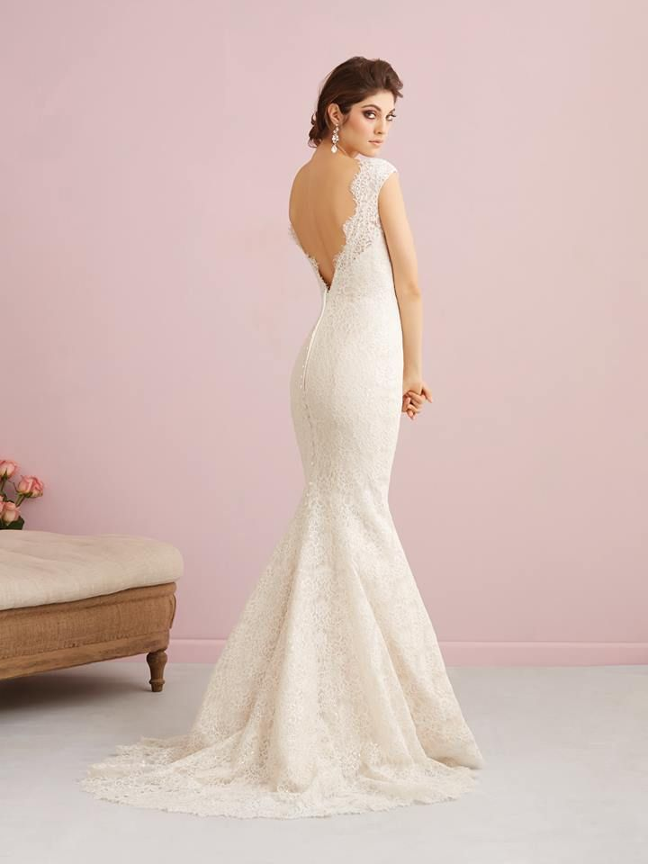 Wedding gown | Bridal dress | Allure Romance | Style 2751 |  Cotton lace | Available in White, Ivory, Champagne/Ivory