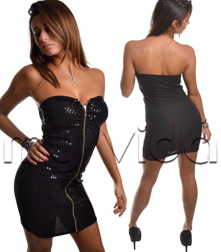 Vestito corto ragazza tubino paillettes zip aderente party dress   My Vida #dresses #dress #vestito #abito #sexy #miniabito #party #disco #clubwear #moda #fashion #look #style #fashion #shopping #shoppingonline #moda #unique #stylish #top #black #nero