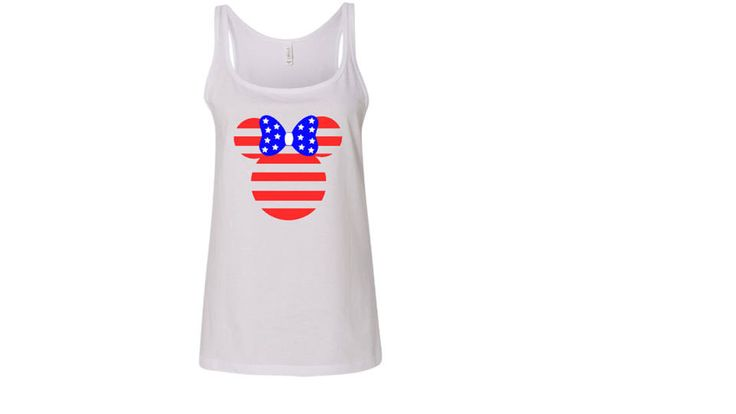 Women's 4th of July Minnie Mouse Tank Top // Indepedence Day Minnie Mouse // Disney Mom // Patriotic Disney Top by CreationsByPayt on Etsy https://www.etsy.com/listing/520434148/womens-4th-of-july-minnie-mouse-tank-top