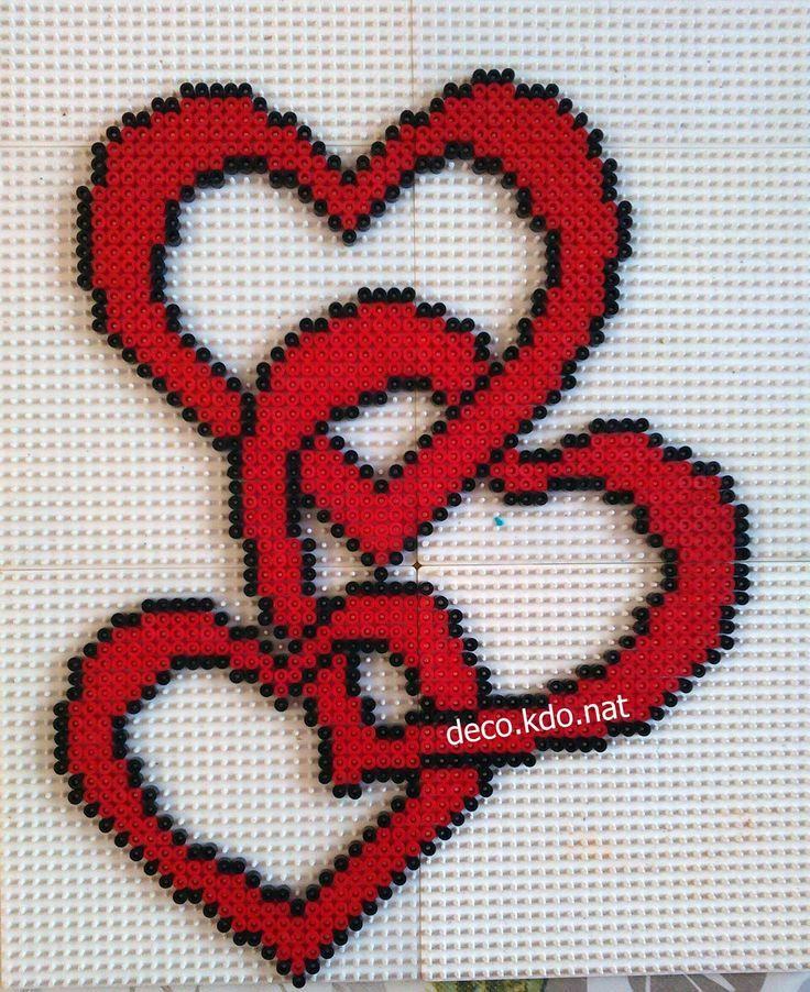 hearts hama beads by perles hama pinterest c ur perles hama et perles. Black Bedroom Furniture Sets. Home Design Ideas