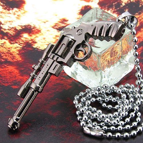 Pandantiv pistol otel inoxidabil