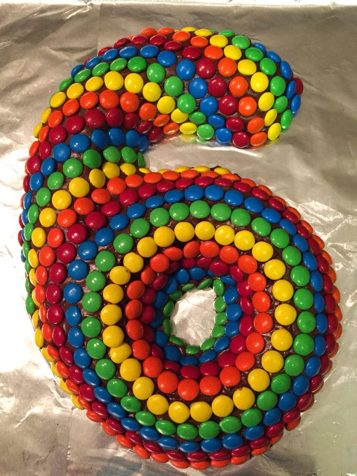 M&M's sixth birthday cake!