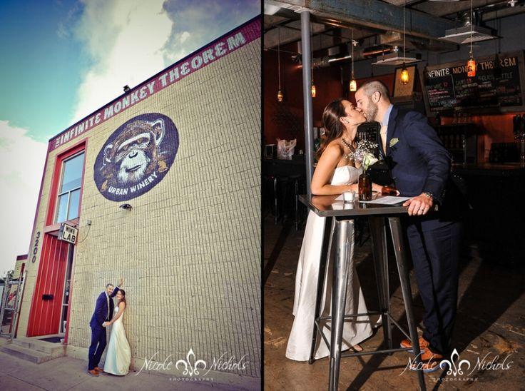 urban wedding pictures at Infinite Monkey Theorem Denver