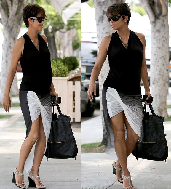 Mommy Fab: Halle Berry's Best Pregnancy Looks Part Deux | MommyNoire - Part 6