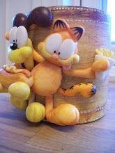 Garfield & Odie clay