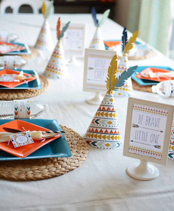 Tribal Little Brave Man themed baby shower via Kara's Party Ideas KarasPartyIdeas.com #tribalbabyshower (23)
