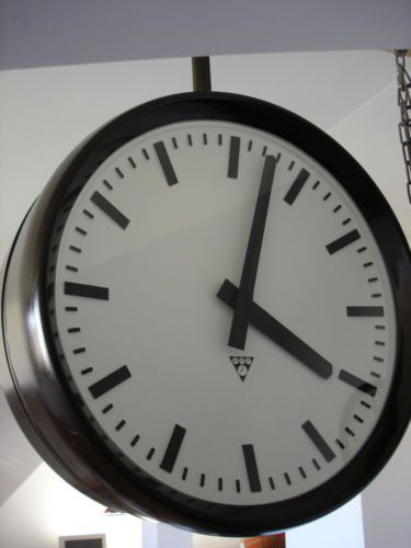 Pragotron Vintage Bakelite Industrial Double Sided Clock Factory 49 Cm | eBay