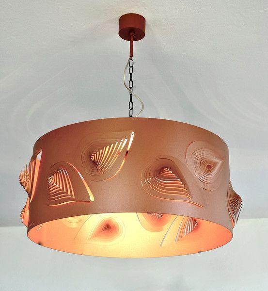 LAMPA nowoczesna  designerska BIG LEAVES - COPPER - Archerlamps - Lampy wiszące