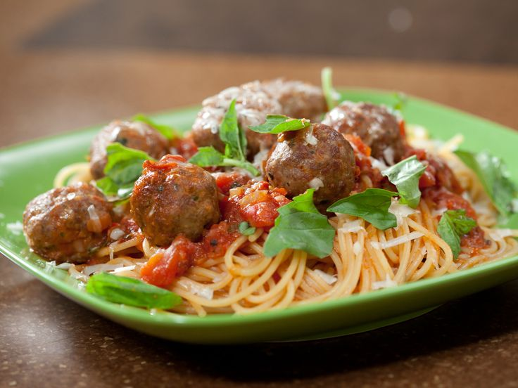On Top of Ole Smoky, All Covered with Cheese: Spaghetti and Meatballs from Rachael Ray, FoodNetwork.com