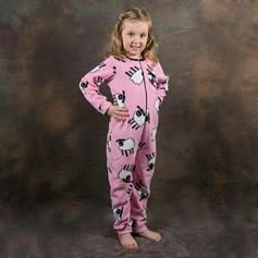 Fleece Onesie - Pink Sheep