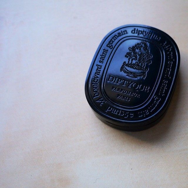 Diptyque Paris solid perfume. Gorgeous scent and so travel friendly!